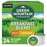 Green Mountain Coffee Roasters Breakfast Blend Decaf Coffee, Keurig® K-Cup® Pods, Light Roast, 24 Count