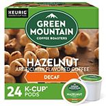 Green Mountain Coffee Hazelnut Decaf Coffee, Keurig® K-Cup® Pods, Light Roast, 24 Count