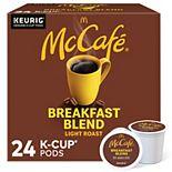 McCafe Breakfast Blend Coffee, Keurig® K-Cup® Pods, Light Roast, 24 Count