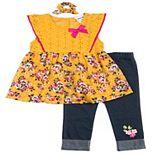 Toddler Girl Little Lass 2-Piece Floral Eyelet Top & Capri Set