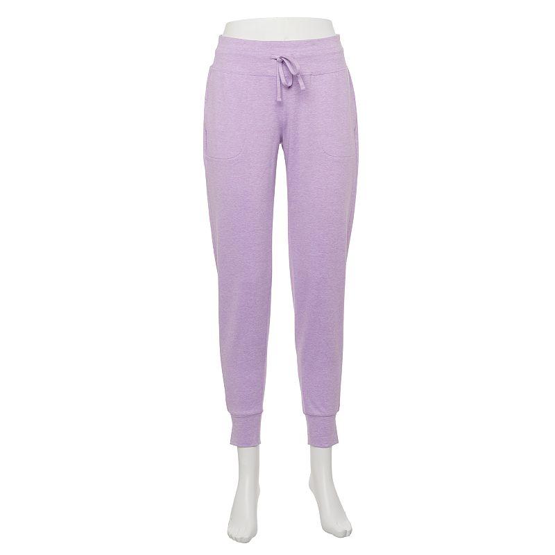 Women's Tek Gear Brushed Jogger Pants, Size: XXL, Lt Purple