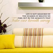 Moments That Take Our Breath Away Wall Sticker