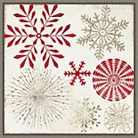 Amanti Art Christmas Snowflakes Framed Canvas Wall Art