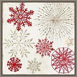 Amanti Art Merry Christmas Sparkles Snowflakes Framed Canvas Wall Art
