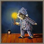Amanti Art The Night Before Christmas Mouse Framed Canvas Wall Art