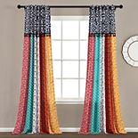 Lush Decor 2-pack Boho Patch Window Curtain Set