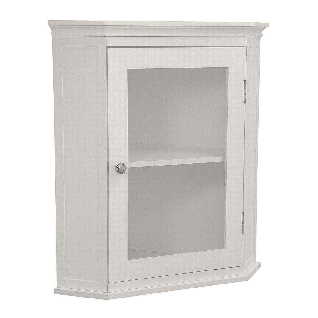 Elegant Home Fashions Mableton Corner Wall Cabinet