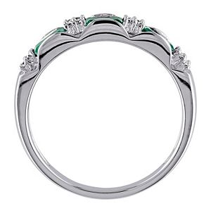 Stella Grace 10k White Gold Emerald & Diamond Accent Eternity Ring