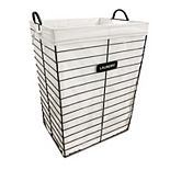 Soho Market Victoria black Wire Hamper with Removable Liner
