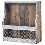 American Art Décor 4 Bottle Wood & Metal Wine Rack Storage