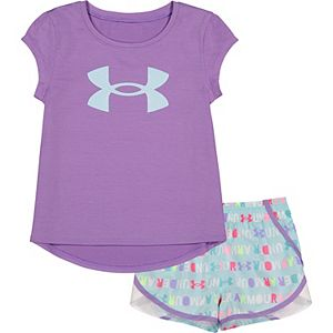 Baby Girl Under Armour Graphic Tee & Shorts Set