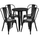 Flash Furniture Round Patio Table & Chair 5-piece Set