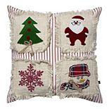 SAATVIK Christmas World Throw Pillow