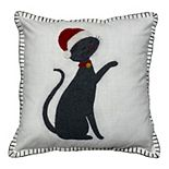 SAATVIK Happy Cat Throw Pillow