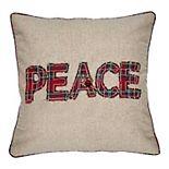 SAATVIK Plaid Peace Throw PIllow