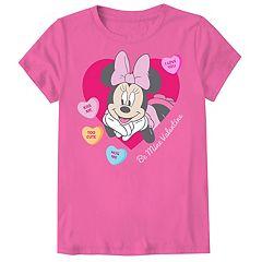 Disney's Minnie Mouse Girls 7-16 & Plus Valentine's Day Tee