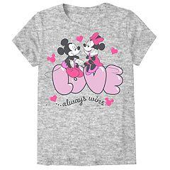 Disney's Minnie & Mickey Mouse Girls 7-16 & Plus Valentine's Day Tee