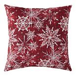 Greendale Home Fashions Snowflakes Throw Pillow