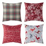 Greendale Home Fashions Holiday 4-piece Throw Pillow Set