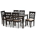 Baxton Studio Mael Dining Table & Chair 7-piece Set