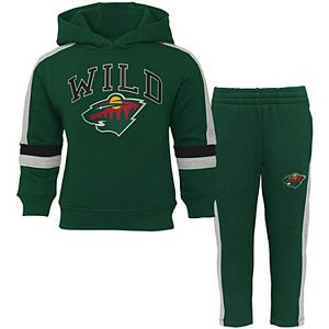 Infant Green Minnesota Wild Break Out Fleece Pullover Hoodie & Pants Set