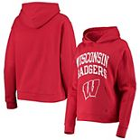 Women's Under Armour Red Wisconsin Badgers All Day Fleece Pullover Hoodie