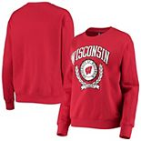 Women's Under Armour Red Wisconsin Badgers All Day Fleece Pullover Sweatshirt