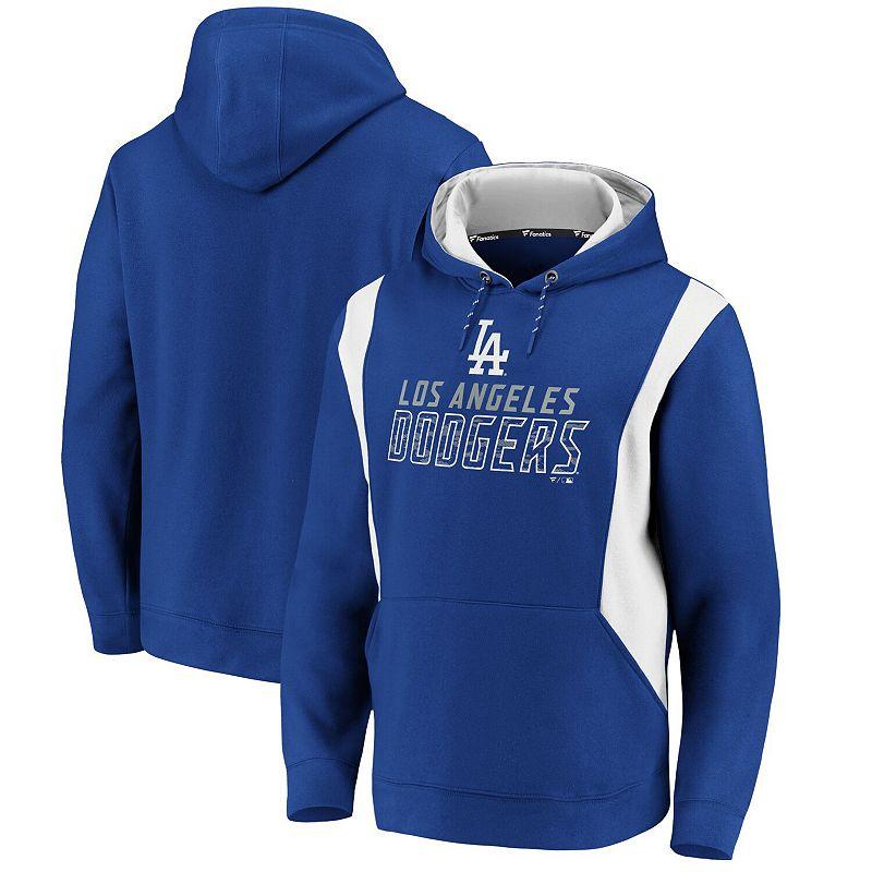 Men's Fanatics Branded Royal Los Angeles Dodgers Iconic Fleece Colorblock Pullover Hoodie, Size: Medium, Blue