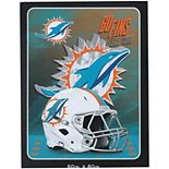 The Northwest Company Miami Dolphins 60'' x 80'' State Pride Throw Blanket