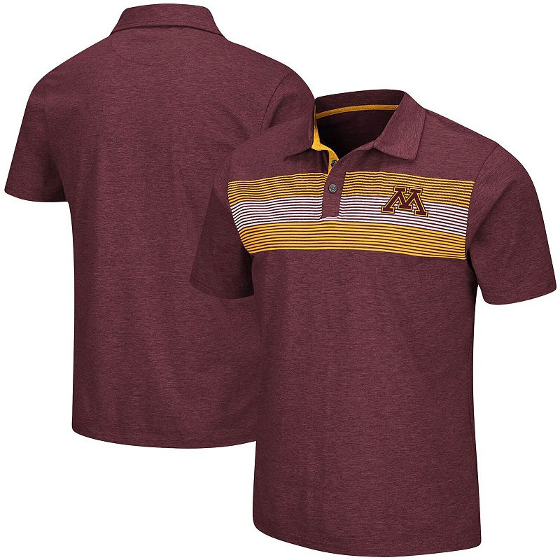 Men's Colosseum Maroon Minnesota Golden Gophers Logan Polo, Size: Large, Red