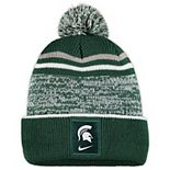 Youth Nike Green/Gray Michigan State Spartans Sideline Cuffed Knit Hat with Pom