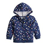 Baby Girl Jumping Beans® French Terry Zip Hoodie