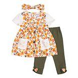 Toddler Girl Little Lass 2-Piece Capri Set with Accessory