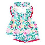 Toddler Girl Little Lass 2-Piece Shorts Set with Accessory