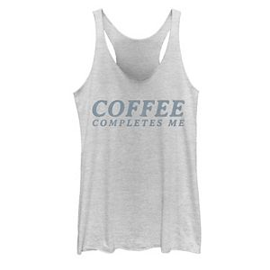 Juniors' Fifth Sun Coffee Completes Me Text Tank