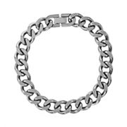 Stainless Steel Curb-Link Bracelet - Men