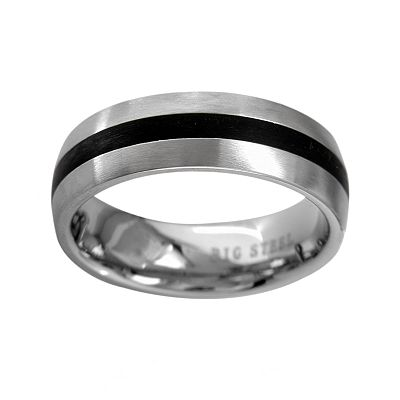 Stainless Steel Striped Band - Men