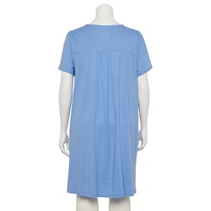 Plus Size Croft & Barrow® Lace Short Sleeve Nightgown
