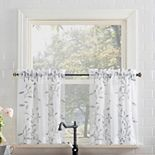 Top of the Window Adele Rod Pocket Kitchen Curtain Tier Pair