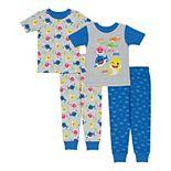 Toddler Boy Baby Shark 4 Piece Pajama Set