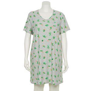 Plus Size Croft & Barrow® V-Neck Short Sleeve Sleepshirt