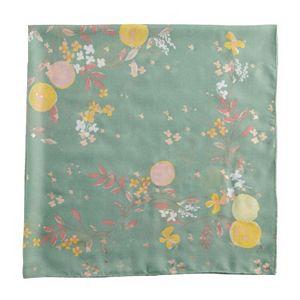 Women's LC Lauren Conrad Floral Peach Square Scarf with Foil Details