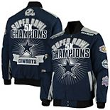 Men's G-III Sports by Carl Banks Navy Dallas Cowboys Extreme Triumph Commemorative Full-Snap Jacket