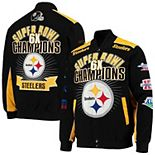 Men's G-III Sports by Carl Banks Black Pittsburgh Steelers Extreme Triumph Commemorative Full-Snap Jacket