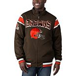 Men's G-III Sports by Carl Banks Brown/Charcoal Cleveland Browns Offside Reversible Full-Zip Jacket