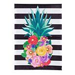 Floral Pineapple Garden Flag