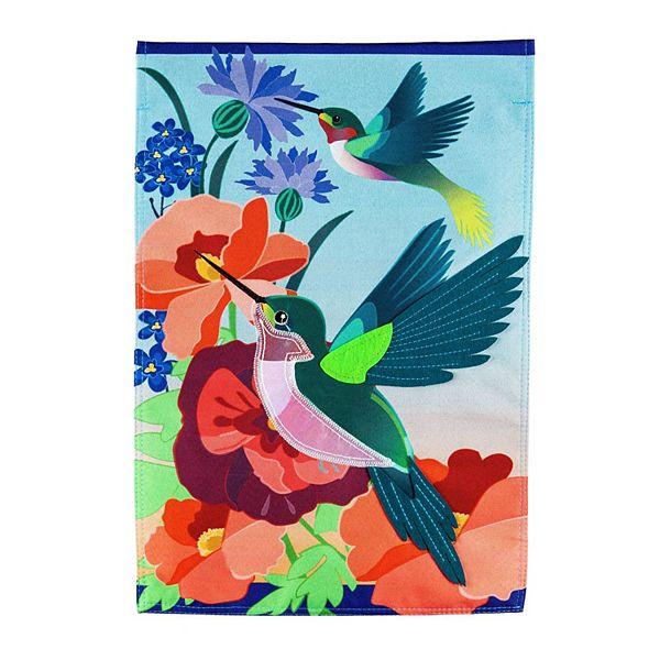 Hummingbird Meadow Garden Flag