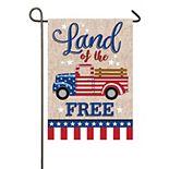 Patriotic Truck Garden Flag