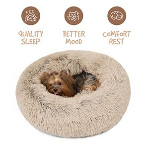Madison Park Friends Forever Coco Faux Fur Self Warming Indoor Round Donut Cuddler