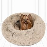 Madison Park Coco Faux Fur Self Warming Indoor Round Donut Cuddler